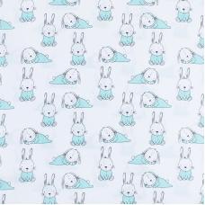 Ткань на отрез поплин 150 см 1956/1 Кролики
