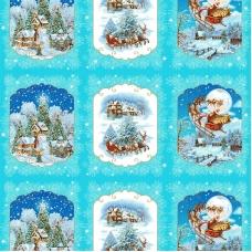 Ткань на отрез рогожка 150 см 11559/1 Санта