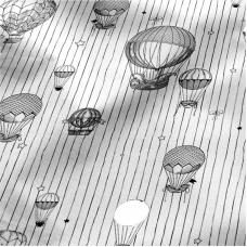 Ткань на отрез перкаль 220 см 6591/1 Воздушные шары