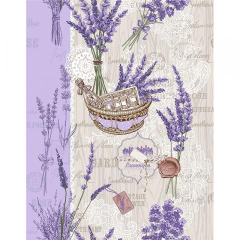 Ткань на отрез вафельное полотно 50 см 5590/1 Лето в Провансе