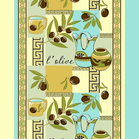 Ткань на отрез вафельное полотно 50 см 170 гр/м2 93371 Оливки желтые