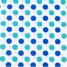 Ткань на отрез поплин 150 см 1718/1 цвет мята-василек