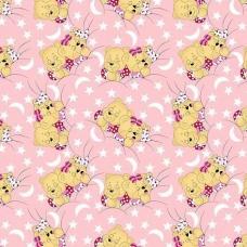 Бязь ГОСТ детская 150 см 1286/2 Соня розовый
