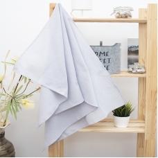 Полотенце вафельное банное 150/75 см цвет серый