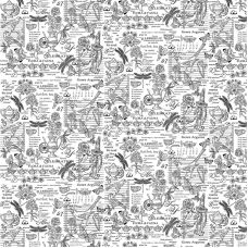 Ткань на отрез рогожка 150 см 30098/2 Версаль цвет белый