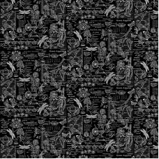 Ткань на отрез рогожка 150 см 30098/3 Версаль цвет черный