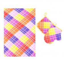 Набор вафельный - полотенце/рукавичка/прихватка вид 3