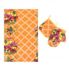 Набор вафельный - полотенце/рукавичка/прихватка вид 5