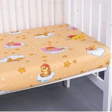 Простынь бязь детская 4098/1 Облачко цвет желтый 110/150 см