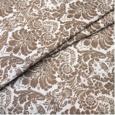 Ткань на отрез поплин 220 см 115 г/м2 391А/18 Дамаск цвет кофе