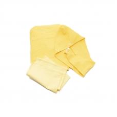 Набор для сауны вафельный женский 3 предмета цвет желтый