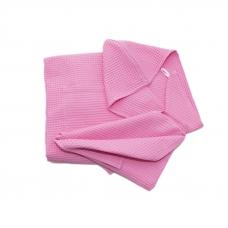 Набор для сауны вафельный женский 3 предмета цвет розовый