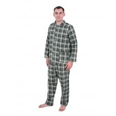 Пижама мужская бязь клетка 60-62 цвет зеленый