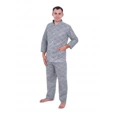 Пижама мужская бязь огурцы 40-42 цвет св серый
