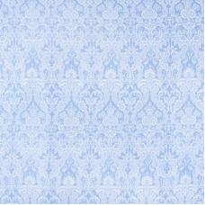 Бязь плательная 150 см 10587/3 Дамаск цвет голубой