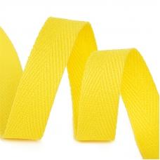 Лента киперная 10 мм хлопок 2.5 гр/см цвет F110 желтый