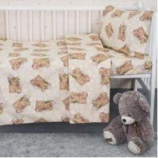 Постельное белье в детскую кроватку 1286/6 Соня бежевый