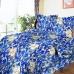 Постельное белье бязь 112 Барокко цвет синий 1.5 сп