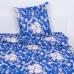 Постельное белье бязь 112 Барокко цвет синий 1.5 сп с 1-ой нав. 70/70