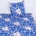 Комплект простыня 1.5 сп + 1 нав. 70/70 бязь 112/1 Барокко цвет синий