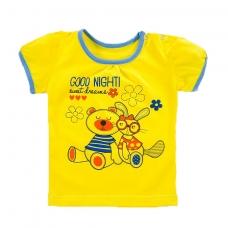 Футболка трикотаж для девочек Good night  рукав короткий 122-128 см