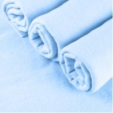 Набор детских пеленок фланель 4 шт 90/120 см Голубые