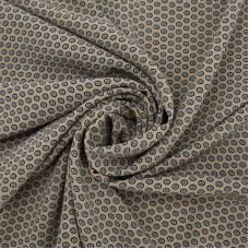 Ткань на отрез супер софт 2416 Горох на бежевом