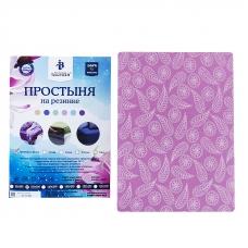 Простыня трикотажная на резинке Премиум цвет узоры 120/200/20 см