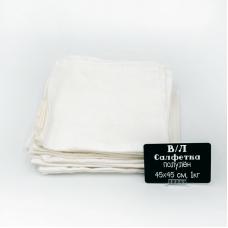 Весовой лоскут Салфетка полулен отбеленный рисунок 0,45 / 0,45 м по 1 кг