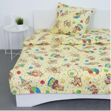 Детское постельное белье из поплина 1.5 сп 1615/2 цвет бежевый