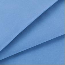 Ткань на отрез сатин гладкокрашеный 245 см 15-3920 цвет голубой