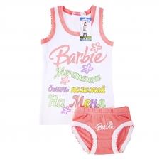 Комплект детский майка + трусы Barbie белый 116 см