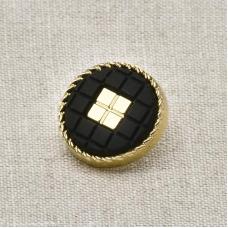 Пуговица металл ПМ40 черный матовая уп 12 шт
