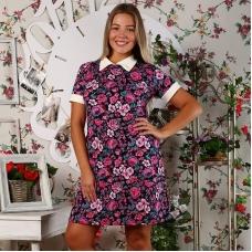 Платье Диана короткий рукав интерлок, вискоза размер 46
