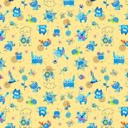 Ткань на отрез фланель 90 см 5569/4 Кот и Пес