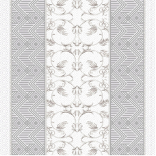 Ткань на отрез дорожка 50 см 5475/1 Вензель цвет серый