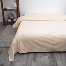 Пододеяльник из поплина Персик, 1,5 спальный