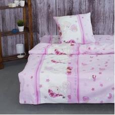 Детское постельное белье из поплина 1.5 сп 1636/4 Мой ангелочек розовый