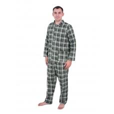 Пижама мужская бязь клетка 64-66 цвет зеленый