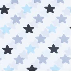 Ткань на отрез поплин 150 см 1798/2 цвет голубой