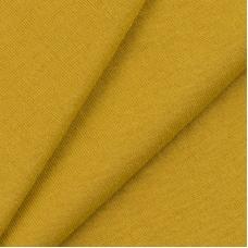 Ткань на отрез кулирка 5142 цвет горчичный
