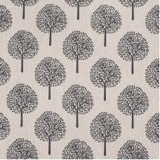 Ткань на отрез лен TBY-DJ-20 Деревья цвет бежевый