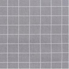 Ткань на отрез лен TBY-DJ-03 Клетка цвет серый