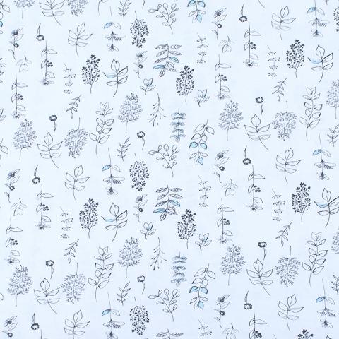 Маломеры кулирка пенье Цветы с голубым 3950-18 0.9 м