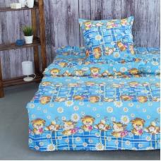 Детское постельное белье из бязи 1.5 сп 837/2 цвет синий