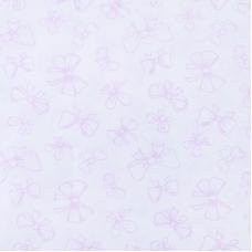 Поплин 150 см 1770/5 Бантики Б/З цвет розовый