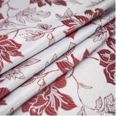 Портьерная ткань с люрексом 150 см на отрез H627 цвет бордовый