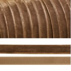 Лента бархатная 20 мм TBY LB2007 цвет бежевый 1 метр
