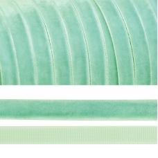 Лента бархатная 20 мм TBY LB2016 цвет мятный 1 метр