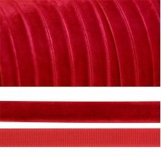 Лента бархатная 20 мм TBY LB2042 цвет т-красный 1 метр